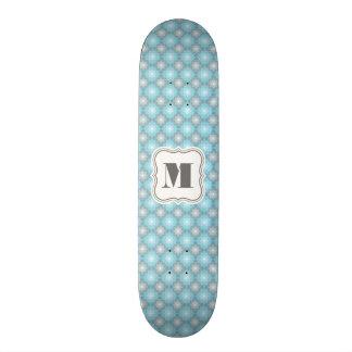 Cool Blue & Gray Checkers w/Monogram Skateboards