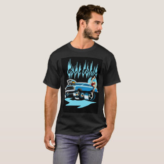 """Cool Blue"" Hot Rod Pinup T-Shirt for Men"