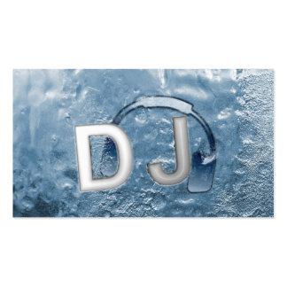 Cool Blue Ice Frozen DJ Business Card