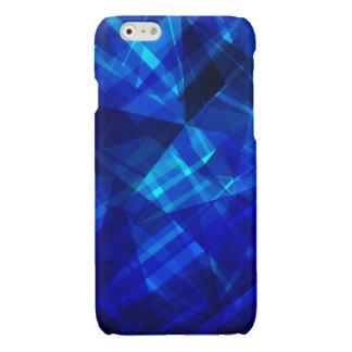 Cool Blue Ice Geometric Pattern