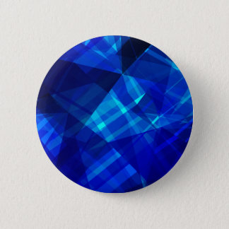 Cool Blue Ice Geometric Pattern 2 Inch Round Button