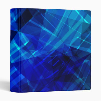 Cool Blue Ice Geometric Pattern Binder