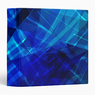 Cool Blue Ice Geometric Pattern Binders
