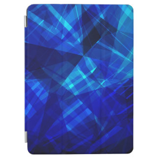 Cool Blue Ice Geometric Pattern iPad Air Cover