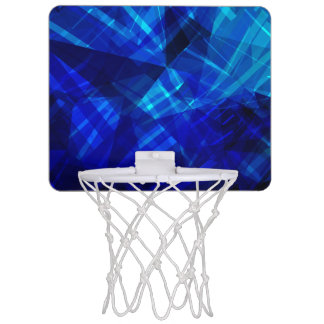 Cool Blue Ice Geometric Pattern Mini Basketball Hoop