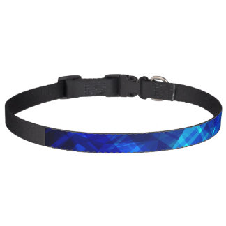 Cool Blue Ice Geometric Pattern Pet Collar