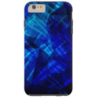 Cool Blue Ice Geometric Pattern Tough iPhone 6 Plus Case