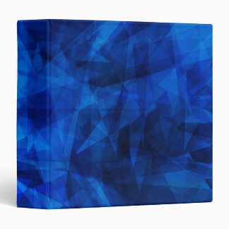Cool Blue Ice Geometric Shards 3 Ring Binders