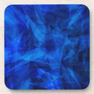 Cool Blue Ice Geometric Shards Drink Coaster