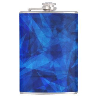 Cool Blue Ice Geometric Shards Flasks