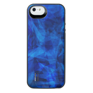 Cool Blue Ice Geometric Shards iPhone SE/5/5s Battery Case