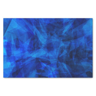 Cool Blue Ice Geometric Shards Tissue Paper