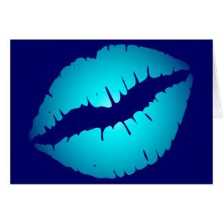 Cool Blue Kiss Card