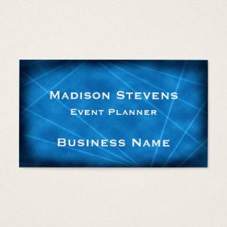 Cool Blue Laser Lights Business Card Template