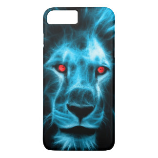 Cool Blue Lion With Blue Eyes Portrait iPhone 8 Plus/7 Plus Case