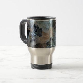 Cool blue marble granite travel mug