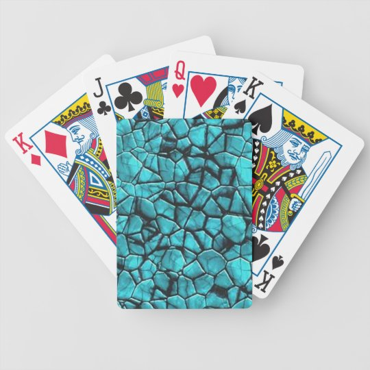 Cool Blue marble stone texture design Bicycle Playing Cards