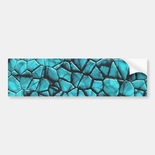 Cool Blue marble stone texture design Bumper Sticker