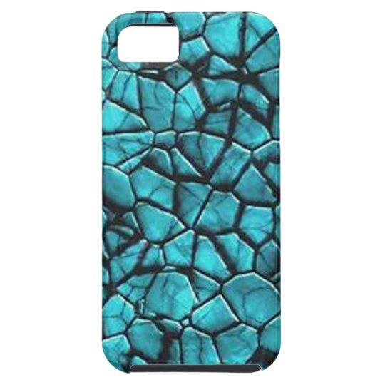 Cool Blue marble stone texture design Case For The iPhone 5