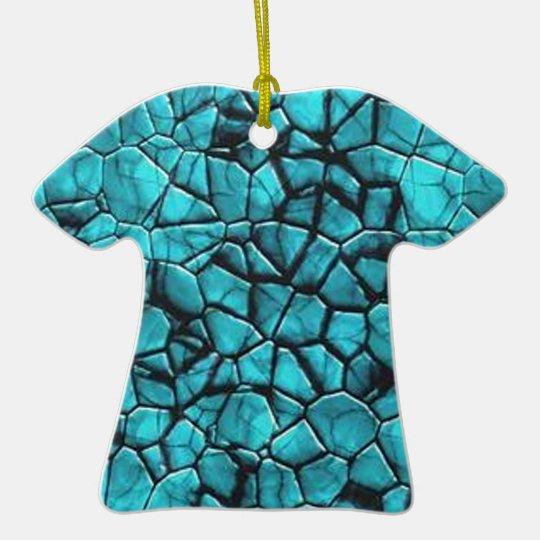 Cool Blue marble stone texture design Ceramic Ornament