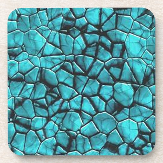 Cool Blue marble stone texture design Coaster