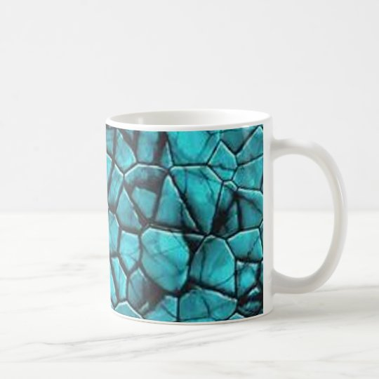 Cool Blue marble stone texture design Coffee Mug