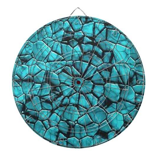 Cool Blue marble stone texture design Dartboard
