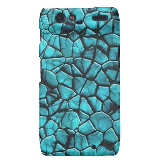 Cool Blue marble stone texture design Droid RAZR Case