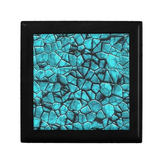 Cool Blue marble stone texture design Gift Box