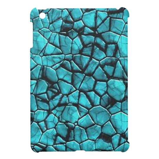 Cool Blue marble stone texture design iPad Mini Case