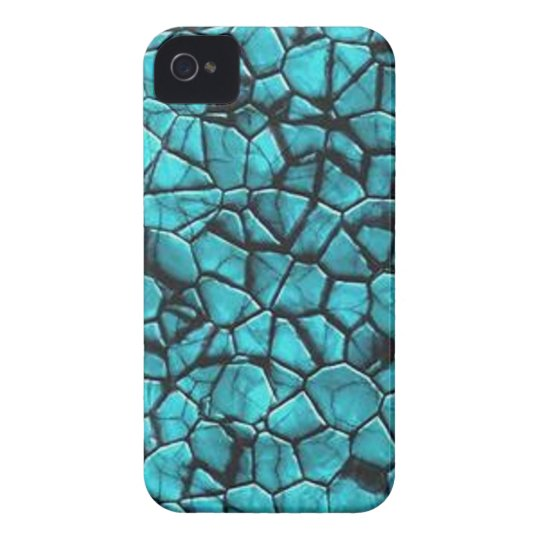 Cool Blue marble stone texture design iPhone 4 Case
