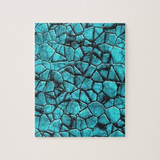 Cool Blue marble stone texture design Jigsaw Puzzle