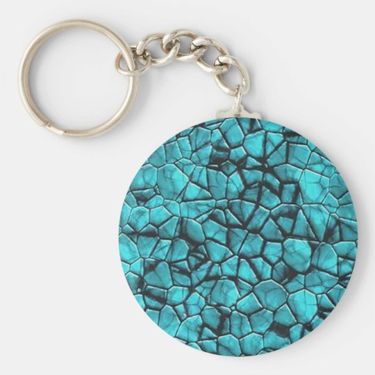 Cool Blue marble stone texture design Keychain