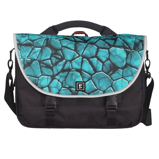 Cool Blue marble stone texture design Laptop Commuter Bag