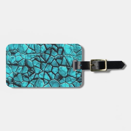 Cool Blue marble stone texture design Luggage Tag