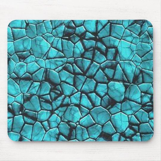 Cool Blue marble stone texture design Mouse Pad