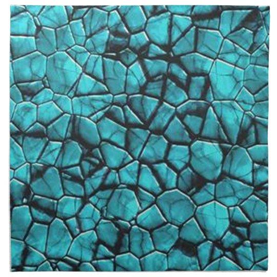 Cool Blue marble stone texture design Napkin