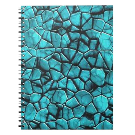 Cool Blue marble stone texture design Notebook