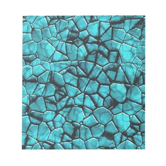 Cool Blue marble stone texture design Notepad