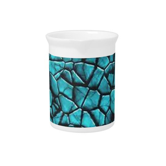 Cool Blue marble stone texture design Pitcher