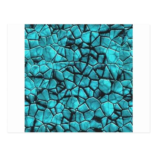 Cool Blue marble stone texture design Postcard