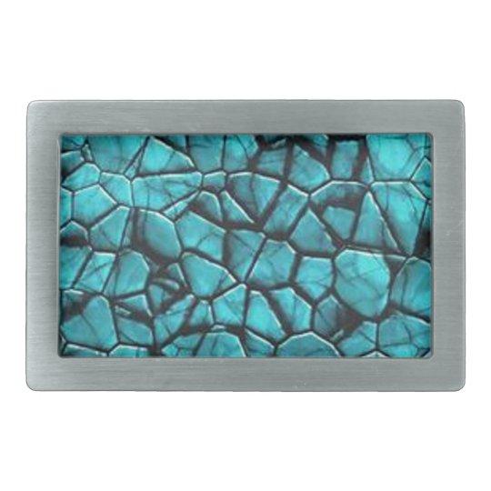 Cool Blue marble stone texture design Rectangular Belt Buckle