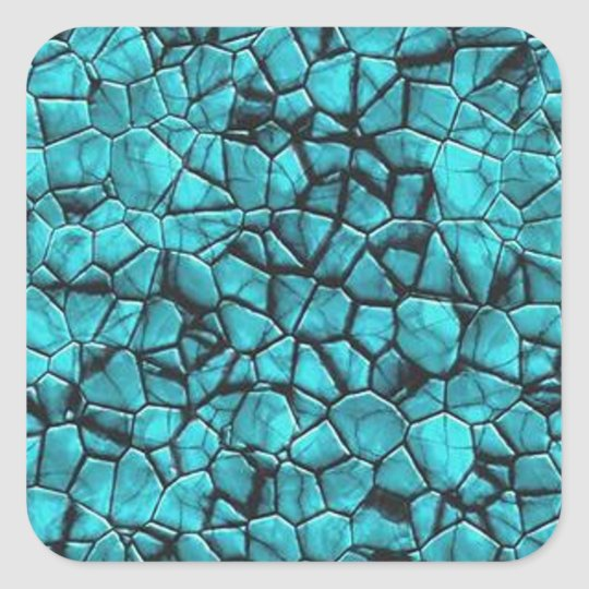 Cool Blue marble stone texture design Square Sticker