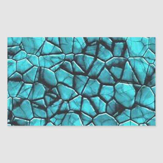 Cool Blue marble stone texture design Sticker
