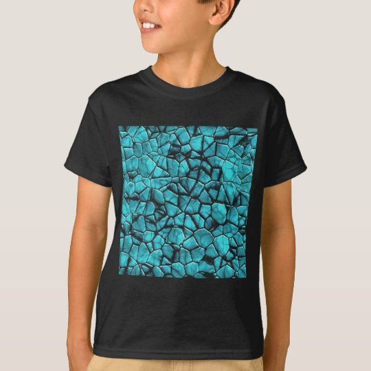 Cool Blue marble stone texture design T-Shirt
