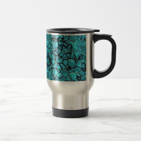 Cool Blue marble stone texture design Travel Mug