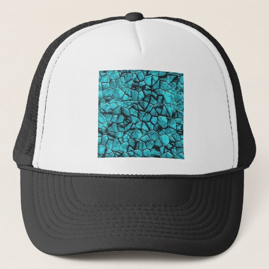 Cool Blue marble stone texture design Trucker Hat