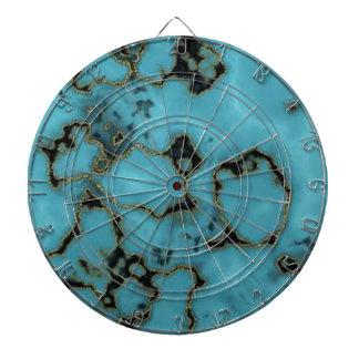 Cool Blue marble texture design Dartboard
