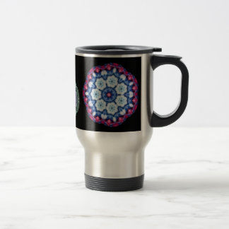 cool blue n pink kaleidoscope travel mug... travel mug
