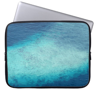 Cool Blue Ocean Maldives White Sand Lagoon Custom Laptop Sleeve